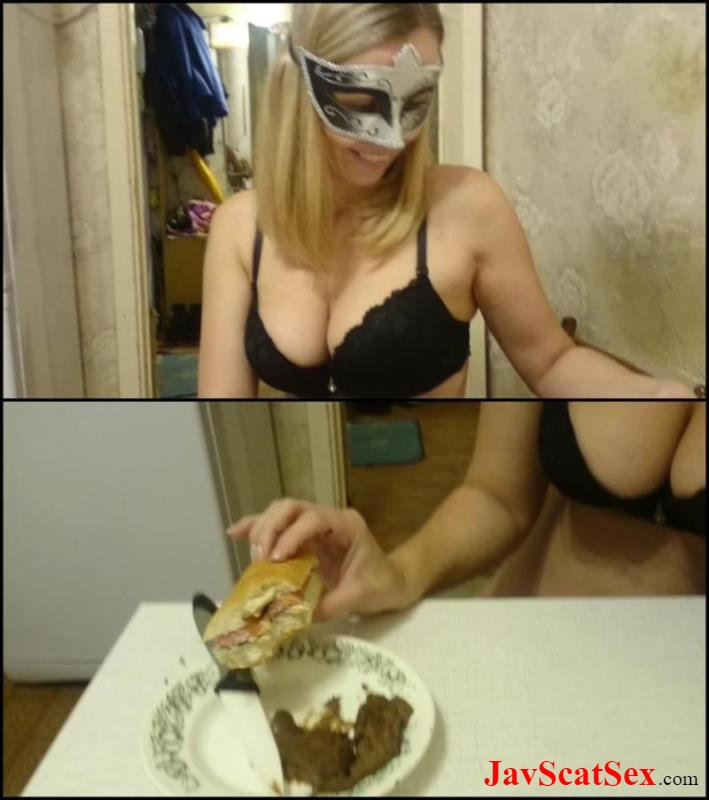 [Special #706] Food from shit Brown wife eats hotdog with shit, is delicious food. Brown Wife FullHD 1080p (974 MB)