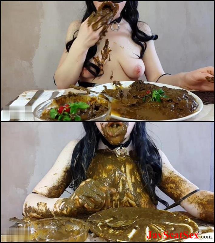 [Special #547] Eat feces Anna Coprofield made dinner out of shit and ate fresh shit. Big pile FullHD 1080p (3.11 GB)