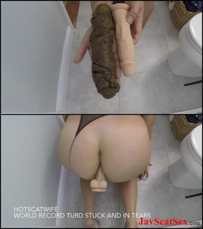 [Special #582] Dirty masturbation Woman defecates very large hard turd – this world record. Scatting FullHD 1080p (1.09 GB)
