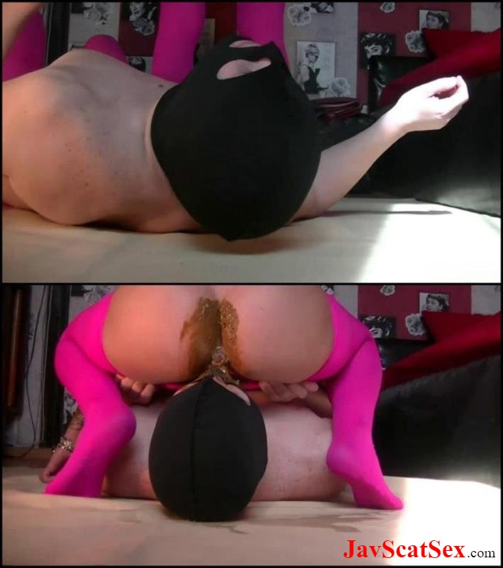[Special #170] Scat slave Godess in pink pantyhose for slave shitting facesitting. Femdom scat FullHD 1080p (428 MB)